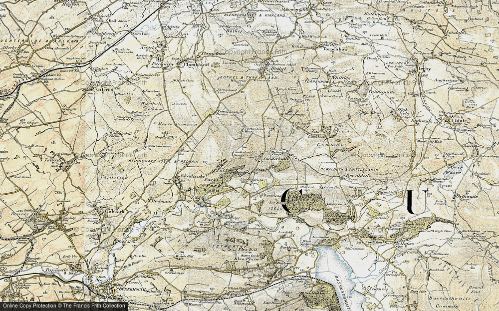 Old Map of Historic Map covering Linskeldfield in 1901-1904