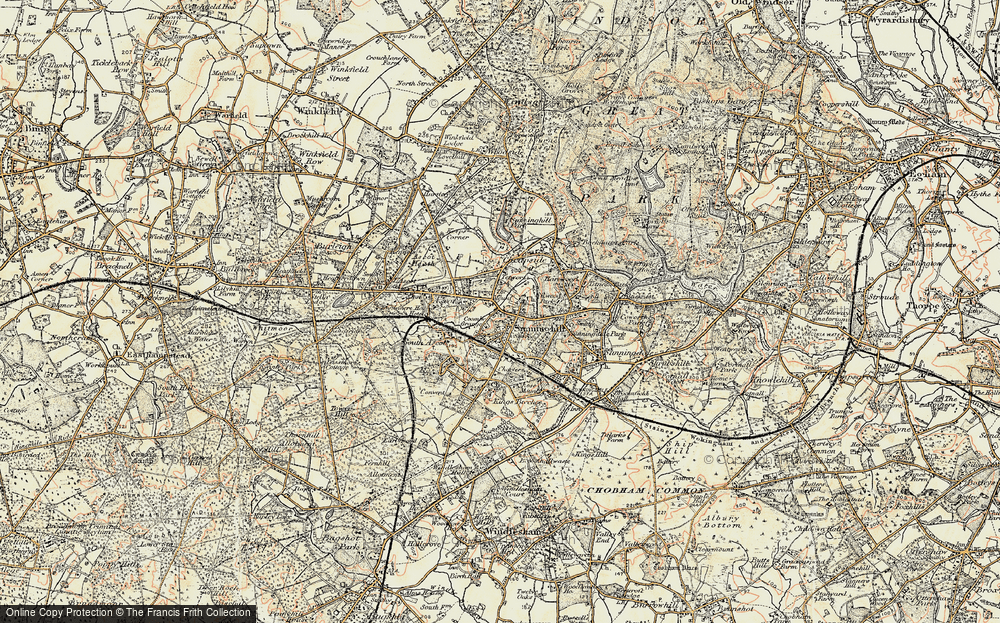 Old Map of Historic Map covering Agincourt in 1897-1909