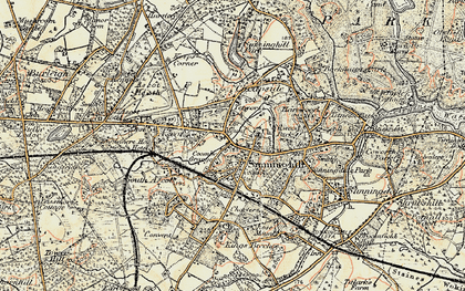 Old map of Sunninghill in 1897-1909