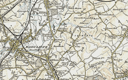 Old map of Thurston Fold in 1903