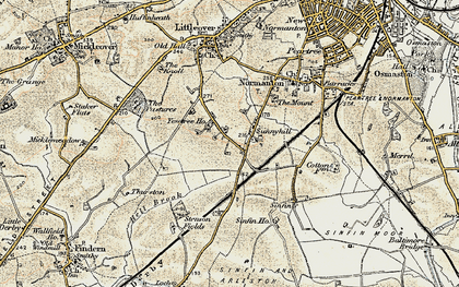 Old map of Sunny Hill in 1902-1903