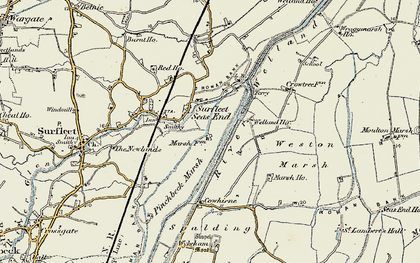 Old map of Wragg Marsh Ho in 1902-1903