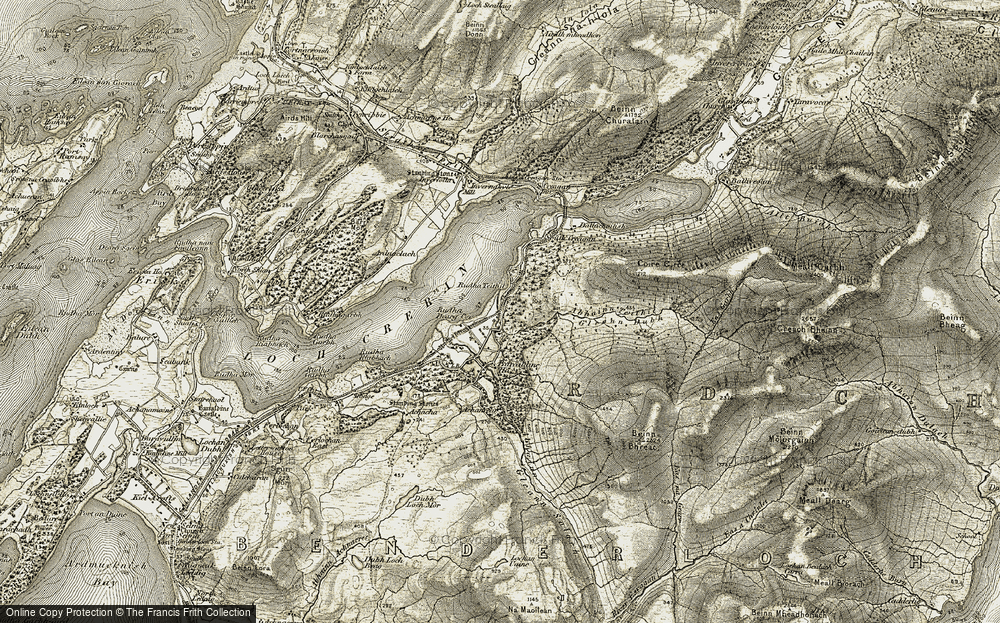 Old Map of Historic Map covering Abhainn Teithil in 1906-1908