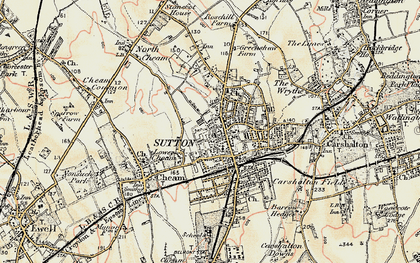 Old map of Sutton in 1897-1909