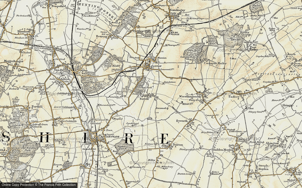 Old Map of Sutton, 1898-1901 in 1898-1901