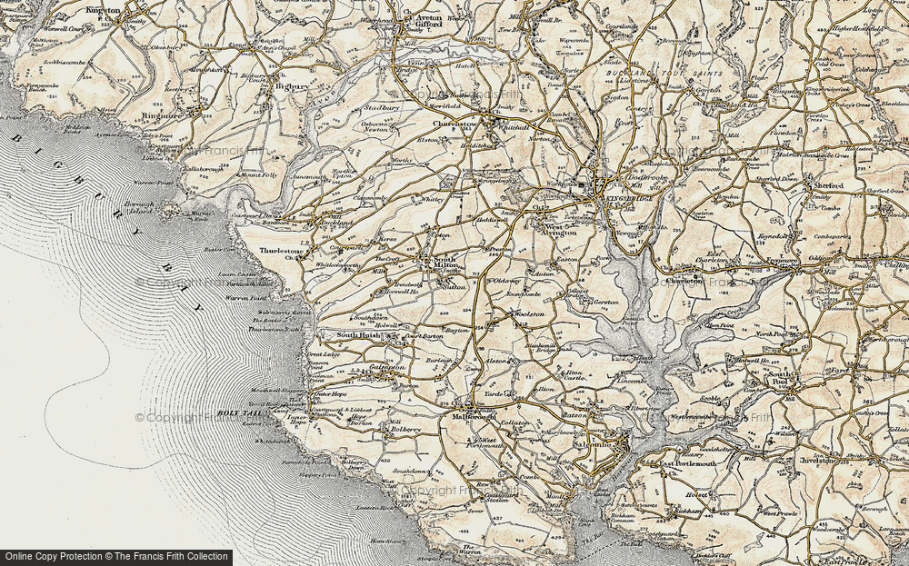 Old Map of Historic Map covering Bagton in 1899