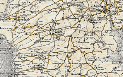 Old map of Bagton in 1899