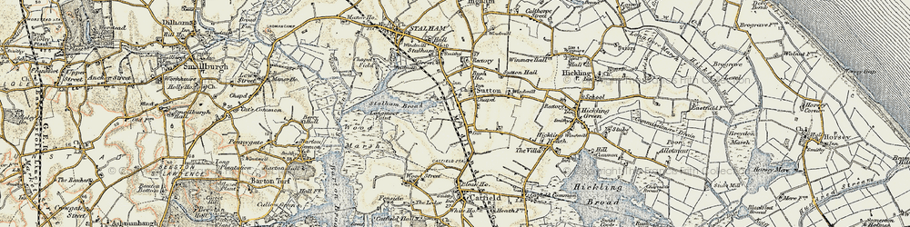 Old map of Sutton in 1901-1902