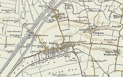 Old map of Sutton in 1901