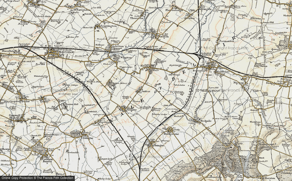 Old Map of Sutton, 1902-1903 in 1902-1903