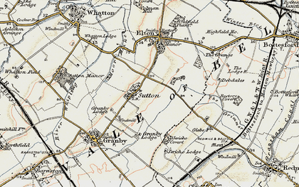 Old map of Sutton in 1902-1903