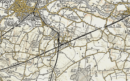 Old map of Sutton in 1903