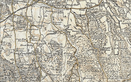 Old map of Sutton Abinger in 1898-1909