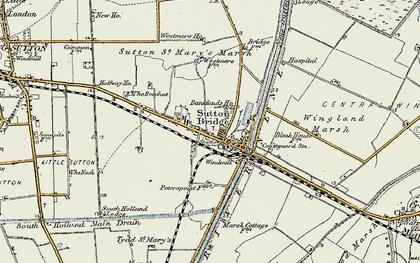 Old map of Sutton Bridge in 1901-1902