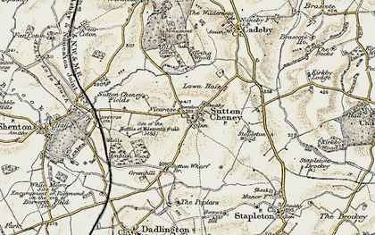 Old map of Ambion Hill in 1901-1903