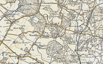 Old map of Woodlands Park in 1897-1909