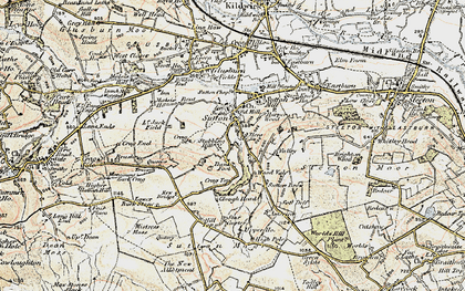 Old map of Sutton-in-Craven in 1903-1904