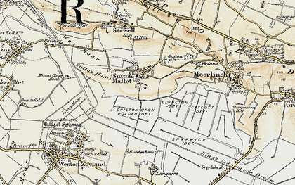 Old map of Ball Hill in 1898-1900
