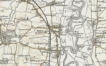 Old map of Sutton on Trent in 1902-1903