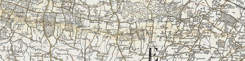 Old map of Sutton Valence in 1897-1898