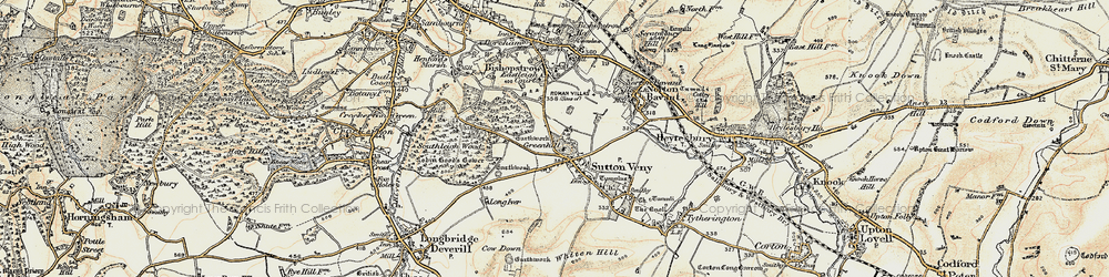 Old map of Whiten Hill in 1897-1899