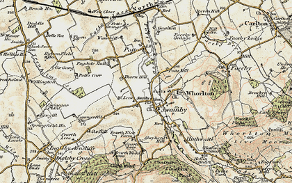 Old map of Swainby in 1903-1904