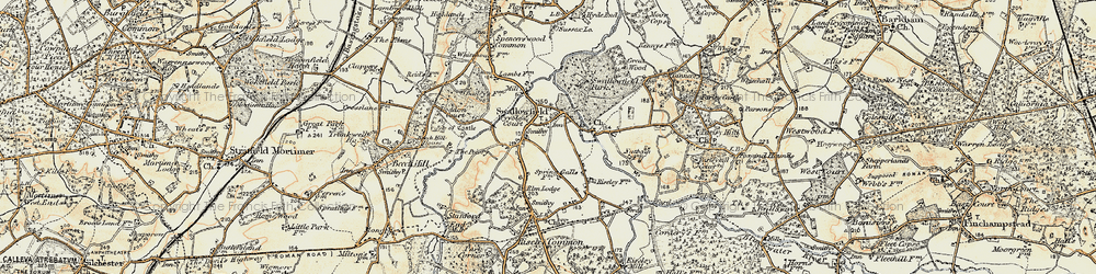 Old map of Wyvols Court in 1897-1909