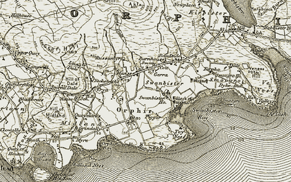 Old map of Yarpha in 1911-1912