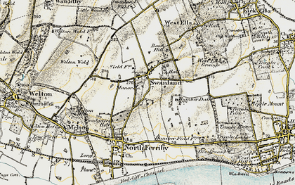 Old map of Swanland in 1903-1908