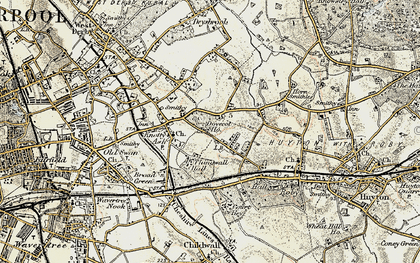 Old map of Swanside in 1902-1903