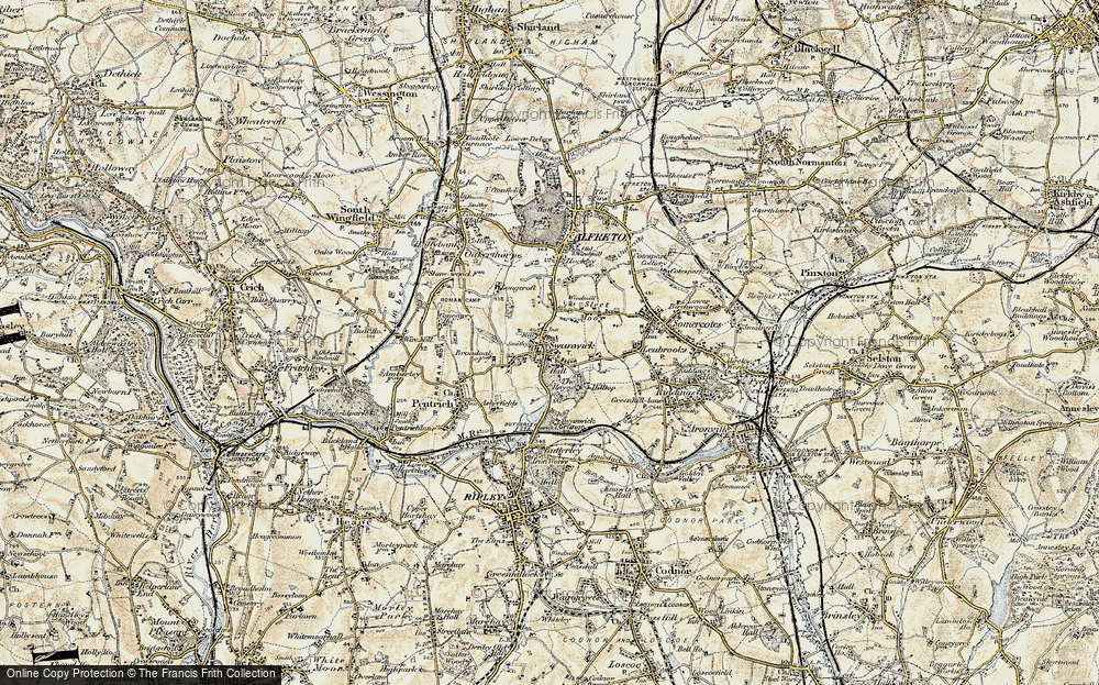 Old Map of Swanwick, 1902 in 1902