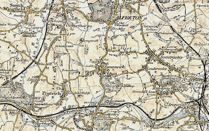 Old map of Swanwick in 1902
