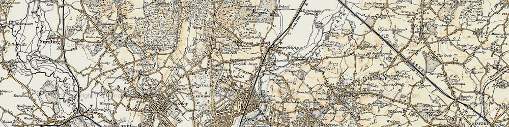 Old map of Woodmill in 1897-1909