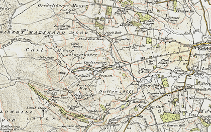 Old map of Wreaks Beck in 1903-1904