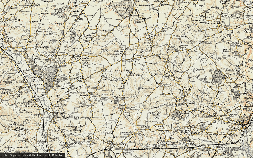 Old Map of Historic Map covering Agricultural Coll in 1898-1901