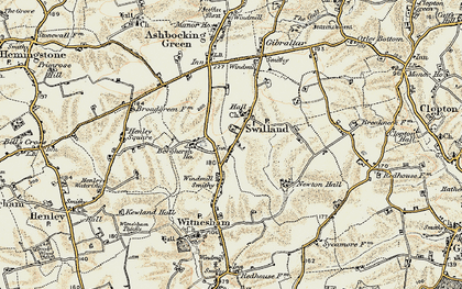 Old map of Agricultural Coll in 1898-1901