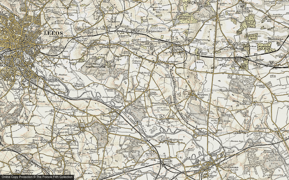 Old Map of Swillington, 1903 in 1903