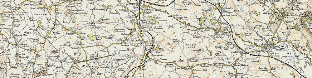Old map of Winterley Cobba in 1903-1904