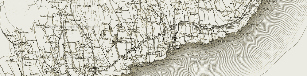 Old map of Achow in 1911-1912