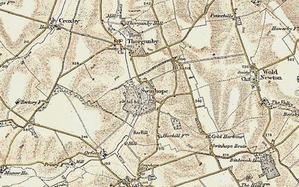 Old map of Swinhope in 1903-1908