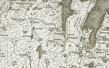 Old map of Laxo Water in 1912