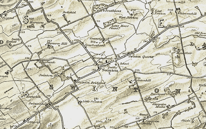 Old map of Laws Moor Plantn in 1901-1904