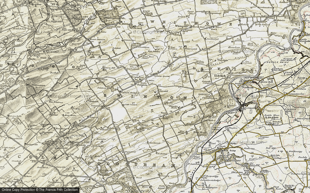 Old Map of Historic Map covering Todhillrig in 1901-1904