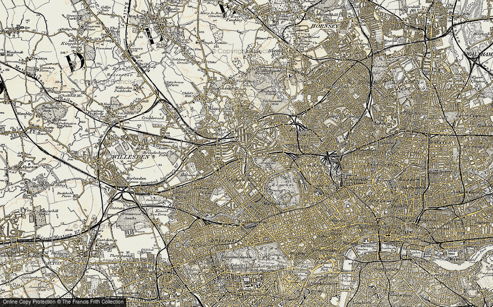 Old Map of Swiss Cottage, 1897-1909 in 1897-1909