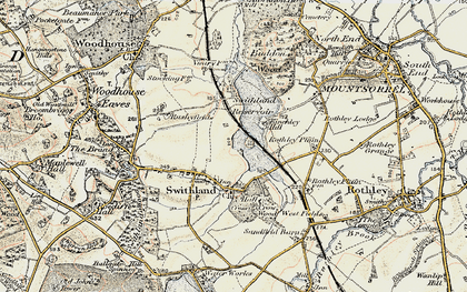 Old map of Swithland in 1902-1903