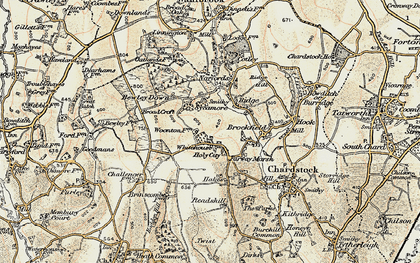 Old map of Whitehouse in 1898-1899