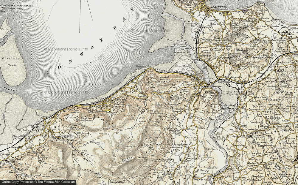 Old Map of Historic Map covering Alltwen in 1902-1903