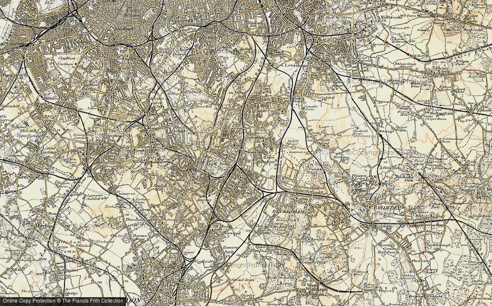 Old Map of Sydenham, 1897-1902 in 1897-1902