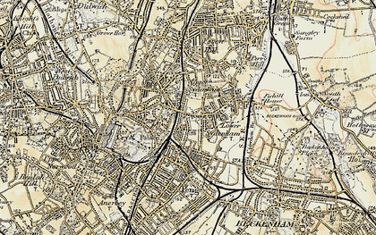 Old map of Sydenham in 1897-1902