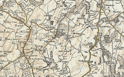 Old map of Ystradfai in 1900-1901